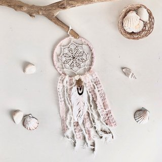 Dream Catcher - S size /// Flower White  (Last 1)