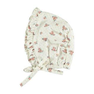 50% OFF SALE - Flower Print Bonnet // OFF-WHITE