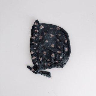50% OFF SALE - Flower Print Bonnet // DARK-GRAY