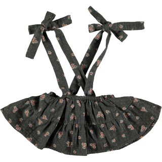 50% OFF SALE - Flower Print Baby Skirt with Braces