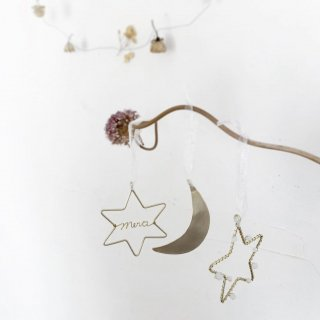 moon star ornament /// set of 3