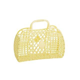 Retro Basket Small // Yellow