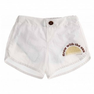 SWIM SHORTS KID WITH PRINT // OFF WHITE