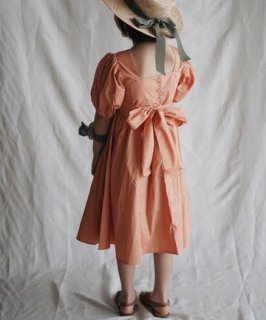 30% OFF SALE // Balloon Sleeve Dress // Orange