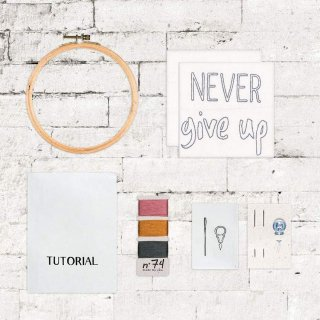 Hoop Kit Quote // Never Give Up