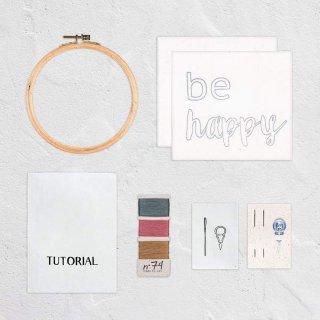 Hoop Kit Quote // be happy