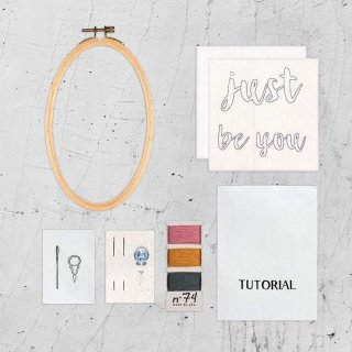 Hoop Kit Quote // just be you