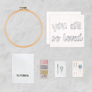 Hoop Kit Quote // you are so loved
