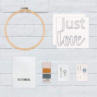 Hoop Kit Quote // just love