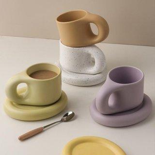 PangPang Mug Coffee Cup with Plate