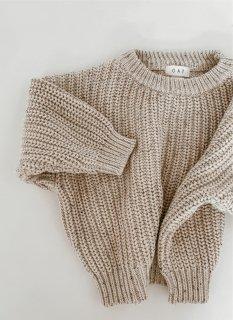 Chunky Sweater // Oat Fleck