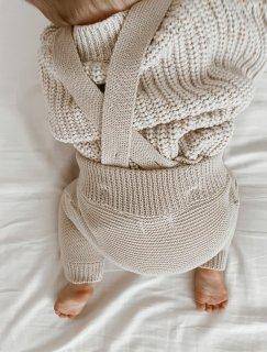 Natural Knit Suspender Pants