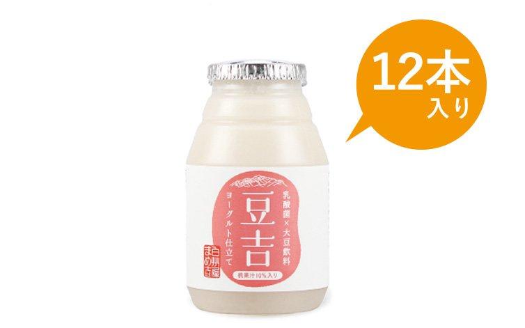 豆吉 乳酸菌×大豆まるごと飲料 桃果汁10%入り 150g 12本入り