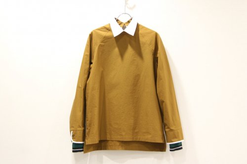 <img class='new_mark_img1' src='https://img.shop-pro.jp/img/new/icons47.gif' style='border:none;display:inline;margin:0px;padding:0px;width:auto;' />NON TOKYO / PIPING-CUFFS PULLOVER SHIRT(MUSTARD)