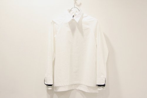 <img class='new_mark_img1' src='https://img.shop-pro.jp/img/new/icons47.gif' style='border:none;display:inline;margin:0px;padding:0px;width:auto;' />NON TOKYO / PIPING-CUFFS PULLOVER SHIRT(WHITE)