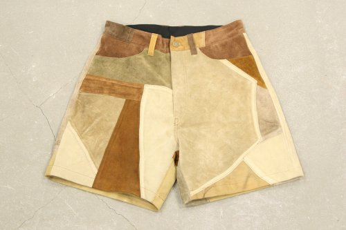 <img class='new_mark_img1' src='https://img.shop-pro.jp/img/new/icons47.gif' style='border:none;display:inline;margin:0px;padding:0px;width:auto;' />Children of the discordance / VINTAGE PATCH LEATHER SHORTS(BROWN) - COLOR 2
