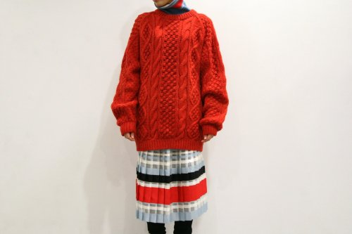 <img class='new_mark_img1' src='https://img.shop-pro.jp/img/new/icons47.gif' style='border:none;display:inline;margin:0px;padding:0px;width:auto;' />NON TOKYO / BORDER PLEAT SKIRT(BLUE/RED)