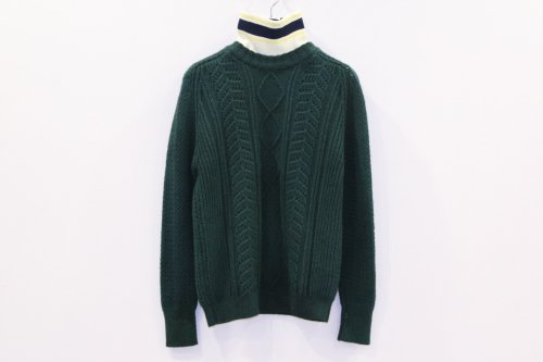 <img class='new_mark_img1' src='https://img.shop-pro.jp/img/new/icons47.gif' style='border:none;display:inline;margin:0px;padding:0px;width:auto;' />NON TOKYO / HAND DYEING RIB KNIT(GREEN)