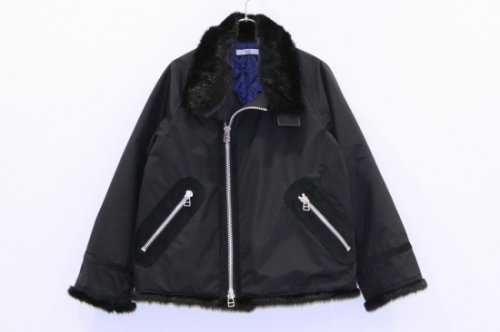 <img class='new_mark_img1' src='https://img.shop-pro.jp/img/new/icons47.gif' style='border:none;display:inline;margin:0px;padding:0px;width:auto;' />NON TOKYO / FUR RIDERS JACKET(BLACK)