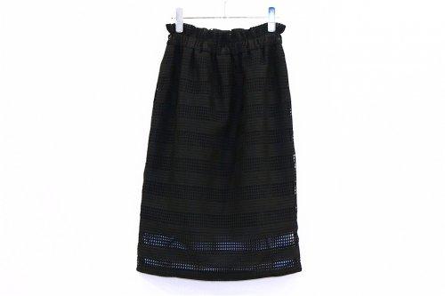 <img class='new_mark_img1' src='https://img.shop-pro.jp/img/new/icons47.gif' style='border:none;display:inline;margin:0px;padding:0px;width:auto;' />Natsumi Zama /Fence Lace Skirt(BLACK)