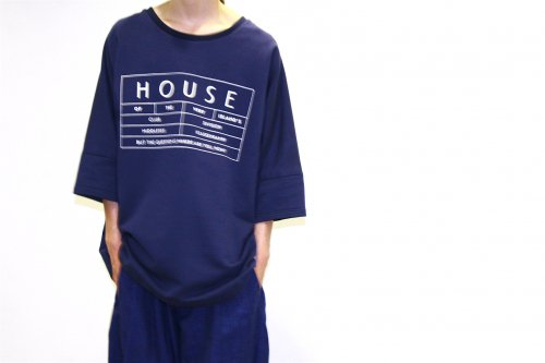<img class='new_mark_img1' src='https://img.shop-pro.jp/img/new/icons47.gif' style='border:none;display:inline;margin:0px;padding:0px;width:auto;' />house of the very island's... / SWEATER WITH LOGO PRINT(NIGHT BLUE)