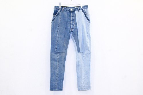 <img class='new_mark_img1' src='https://img.shop-pro.jp/img/new/icons47.gif' style='border:none;display:inline;margin:0px;padding:0px;width:auto;' />The Attractman / PATCH WORK DENIM(BLUE)