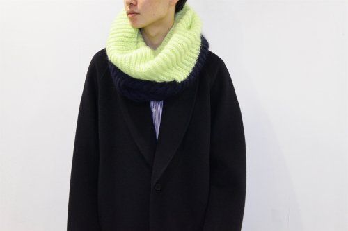 <img class='new_mark_img1' src='https://img.shop-pro.jp/img/new/icons47.gif' style='border:none;display:inline;margin:0px;padding:0px;width:auto;' />REALITY STUDIO / Snood muffler(LIME×NAVY)