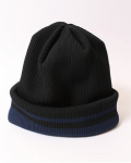 <img class='new_mark_img1' src='https://img.shop-pro.jp/img/new/icons20.gif' style='border:none;display:inline;margin:0px;padding:0px;width:auto;' />NON TOKYO / REVERSIBLE RIBBED KINT CAP(BLACK)