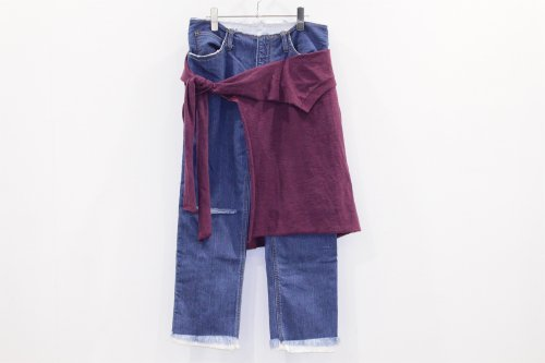 <img class='new_mark_img1' src='https://img.shop-pro.jp/img/new/icons2.gif' style='border:none;display:inline;margin:0px;padding:0px;width:auto;' />THEE / W-face cut off denim for ATTEMPT(02)