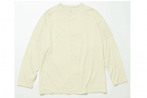 <img class='new_mark_img1' src='https://img.shop-pro.jp/img/new/icons47.gif' style='border:none;display:inline;margin:0px;padding:0px;width:auto;' />ETHOS/BORDER DS LONG TEE(BEIGE)