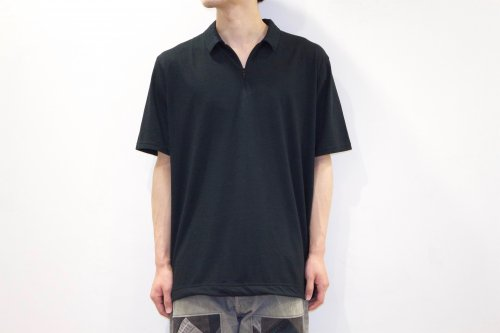<img class='new_mark_img1' src='https://img.shop-pro.jp/img/new/icons47.gif' style='border:none;display:inline;margin:0px;padding:0px;width:auto;' />ETHOS/ HALF ZIP POLO(BLACK)