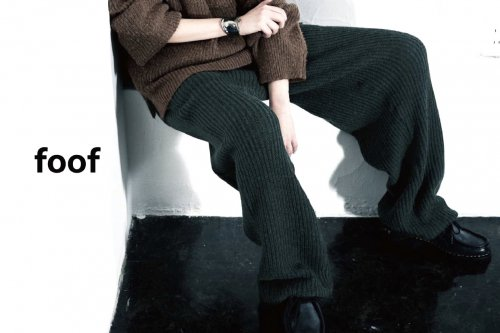 <img class='new_mark_img1' src='https://img.shop-pro.jp/img/new/icons47.gif' style='border:none;display:inline;margin:0px;padding:0px;width:auto;' />foof / WOOL ALPACA KNIT PANTS(NAVY)