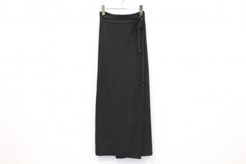 <img class='new_mark_img1' src='https://img.shop-pro.jp/img/new/icons47.gif' style='border:none;display:inline;margin:0px;padding:0px;width:auto;' />TAN / SOFTSHINY WRAPPED SKIRT(BLACK)