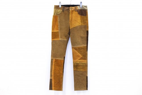 Children of the discordance / VINTAGE PATCH LEATHER PANTS(BROWN・SIZE1)