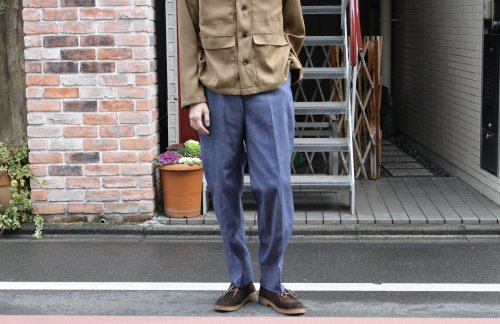 <img class='new_mark_img1' src='https://img.shop-pro.jp/img/new/icons47.gif' style='border:none;display:inline;margin:0px;padding:0px;width:auto;' />ATHA / TENCEL DENIM TARPERD EASY TROUSERS(INDIGO)