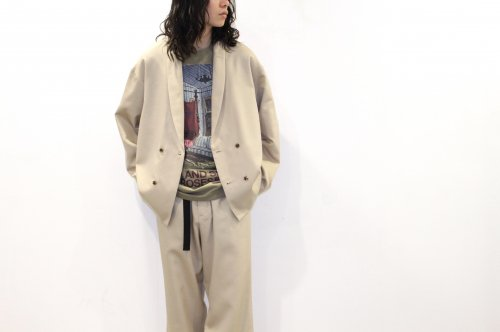 <img class='new_mark_img1' src='https://img.shop-pro.jp/img/new/icons47.gif' style='border:none;display:inline;margin:0px;padding:0px;width:auto;' />Blanc YM / S/W Royal oxford jacket(BEIGE)
