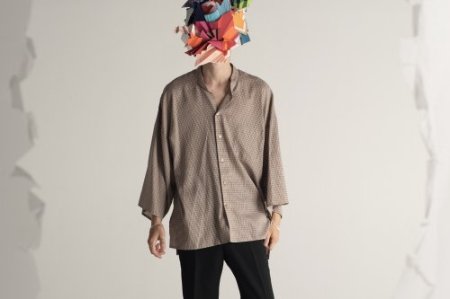 <img class='new_mark_img1' src='https://img.shop-pro.jp/img/new/icons20.gif' style='border:none;display:inline;margin:0px;padding:0px;width:auto;' />THEE / kimono sleeve shirts.(CHECK)