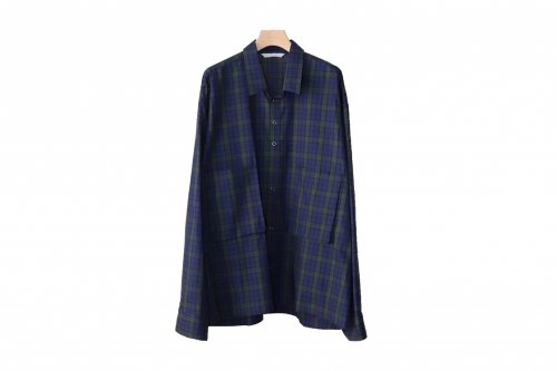 <img class='new_mark_img1' src='https://img.shop-pro.jp/img/new/icons47.gif' style='border:none;display:inline;margin:0px;padding:0px;width:auto;' />THEE / oversize short shirt.(BLACK WATCH)