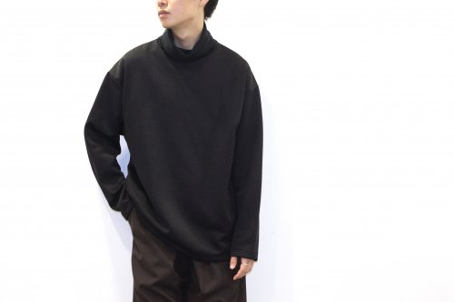 <img class='new_mark_img1' src='https://img.shop-pro.jp/img/new/icons47.gif' style='border:none;display:inline;margin:0px;padding:0px;width:auto;' />Blanc YM / Brushed High Neck Tops(BLACK)