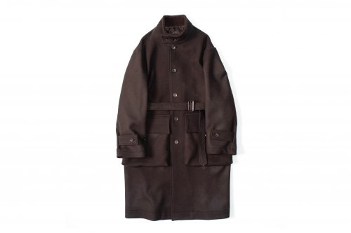 <img class='new_mark_img1' src='https://img.shop-pro.jp/img/new/icons47.gif' style='border:none;display:inline;margin:0px;padding:0px;width:auto;' />stein / OVER SLEEVE STAND COLLAR COAT(BROWN)
