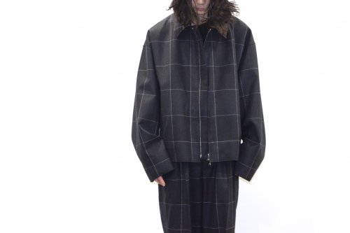 <img class='new_mark_img1' src='https://img.shop-pro.jp/img/new/icons47.gif' style='border:none;display:inline;margin:0px;padding:0px;width:auto;' />YOKE / CUT-OFF DRIZZLER JACKET(NAVY CHECK)