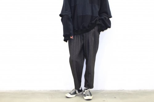 <img class='new_mark_img1' src='https://img.shop-pro.jp/img/new/icons47.gif' style='border:none;display:inline;margin:0px;padding:0px;width:auto;' />SAYATOMO /Karusan Herringbone Pants(GRAY)
