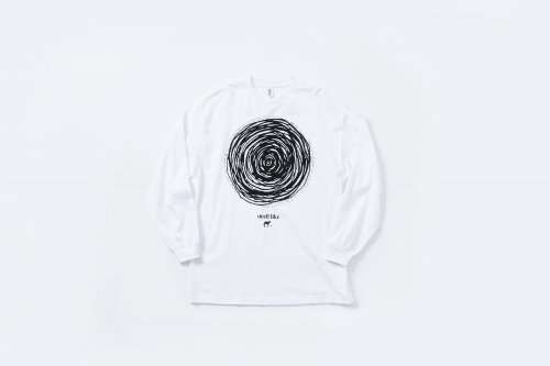 <img class='new_mark_img1' src='https://img.shop-pro.jp/img/new/icons2.gif' style='border:none;display:inline;margin:0px;padding:0px;width:auto;' />smell(s)like / CIRCLE long sleeve T-shirts designed by tsutomu moriya(WHITE)