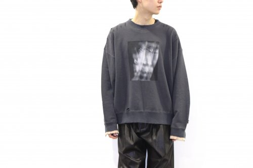 <img class='new_mark_img1' src='https://img.shop-pro.jp/img/new/icons47.gif' style='border:none;display:inline;margin:0px;padding:0px;width:auto;' />stein / OVERSIZED REBUILD SWEAT LS(CHARCOAL)