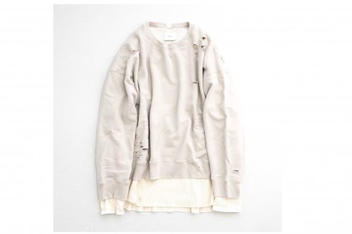 <img class='new_mark_img1' src='https://img.shop-pro.jp/img/new/icons47.gif' style='border:none;display:inline;margin:0px;padding:0px;width:auto;' />stein / OVERSIZED LAYERED SWEAT LS(GREIGE)