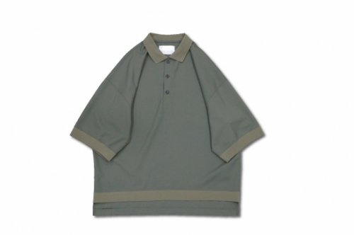 <img class='new_mark_img1' src='https://img.shop-pro.jp/img/new/icons2.gif' style='border:none;display:inline;margin:0px;padding:0px;width:auto;' />VOAAOV / OVERSIZED WASHABLE WOOL POLO(OLIVE)
