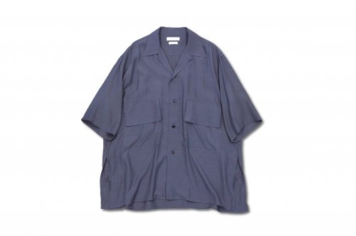 <img class='new_mark_img1' src='https://img.shop-pro.jp/img/new/icons2.gif' style='border:none;display:inline;margin:0px;padding:0px;width:auto;' />YOKE / HALF SLEEVES BIG FLAP SHIRT(FOG NAVY)
