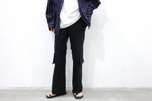 <img class='new_mark_img1' src='https://img.shop-pro.jp/img/new/icons47.gif' style='border:none;display:inline;margin:0px;padding:0px;width:auto;' />no. / SEPARATION TROUSER(BLACK)