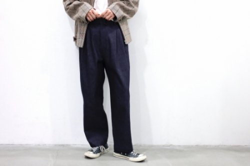 <img class='new_mark_img1' src='https://img.shop-pro.jp/img/new/icons47.gif' style='border:none;display:inline;margin:0px;padding:0px;width:auto;' />stein / BELTED WIDE STRAIGHT DENIM TROUSERS(INDIGO)