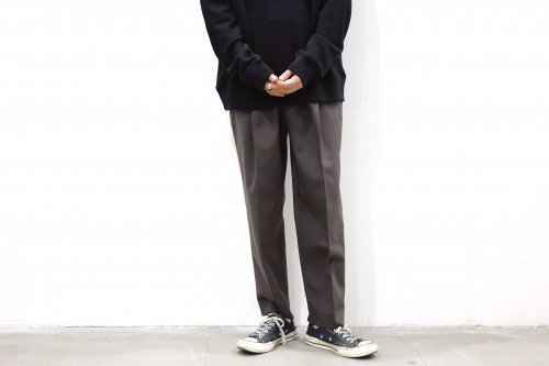 <img class='new_mark_img1' src='https://img.shop-pro.jp/img/new/icons47.gif' style='border:none;display:inline;margin:0px;padding:0px;width:auto;' />stein / WIDE TAPERED TROUSERS(GR. BROWN)
